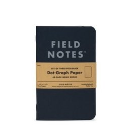 Field Notes Field Notes Pitch Black Memo Book 3-Packs Ruled