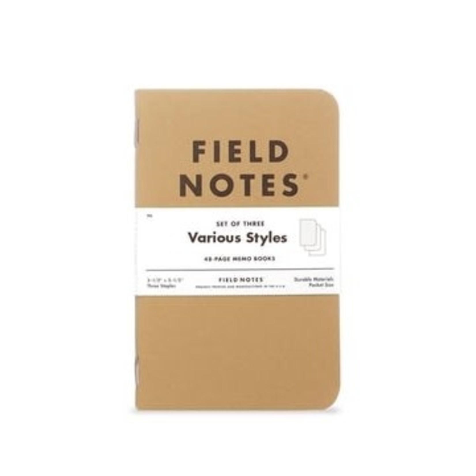 Field Notes Field Notes Original Kraft 3-Packs  Plain