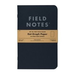 Field Notes Field Notes Pitch Black Note Book 2-Pack Ruled