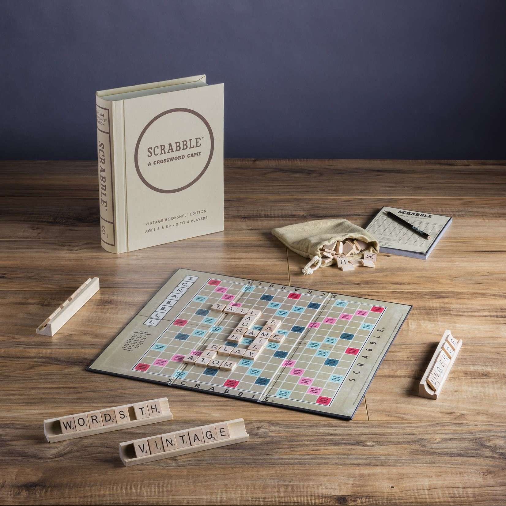 WS Game Company WS Scrabble Vintage Bookshelf Games