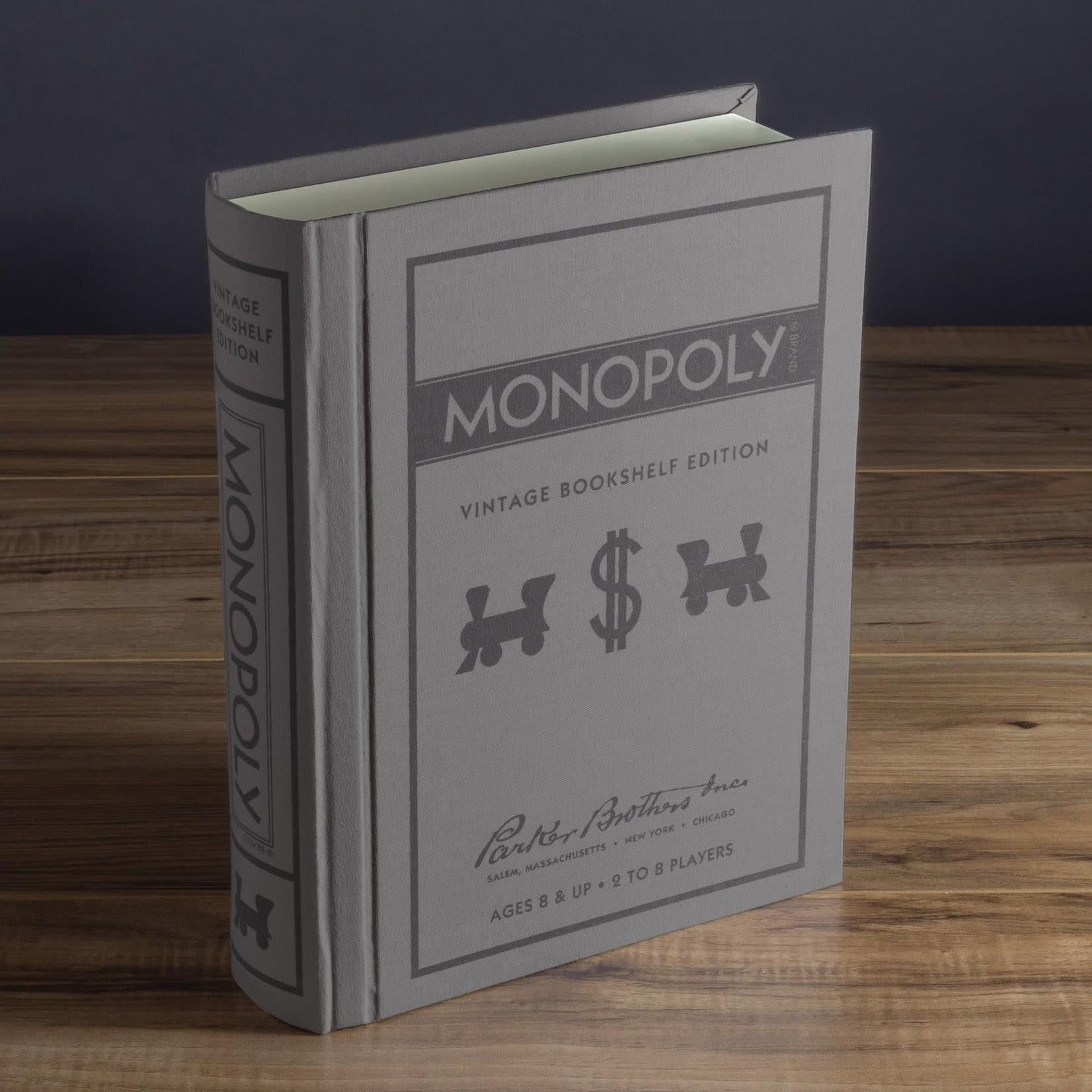 WS Game Company WS Monopoly Vintage Bookshelf Games