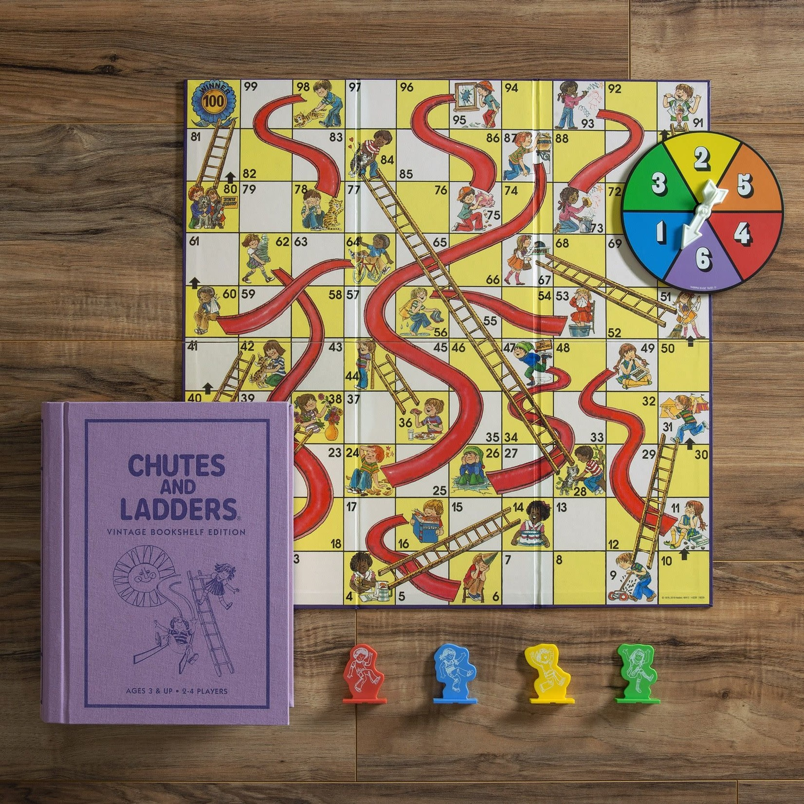 WS Game Company WS Chutes and Ladders Vintage Bookshelf Games