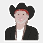 Tay Ham Tay Ham Sticker - MUSIC Willie Nelson Love