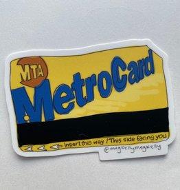 Meg Kelly Meg Kelly Sticker Metrocard