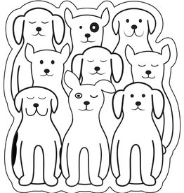 Counter Couture Counter Couture Sticker - ANIMALS Dogs