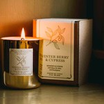 Lodestone Gold Candle Winter Berry & Cypress