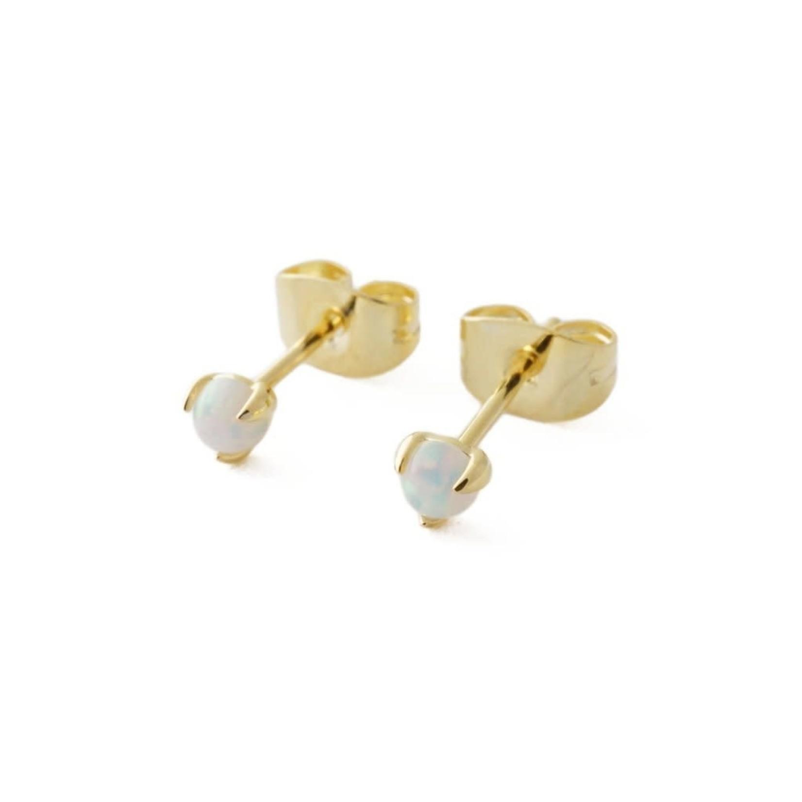 Honeycat Jewelry Honeycat Point Solitaire Studs Opal