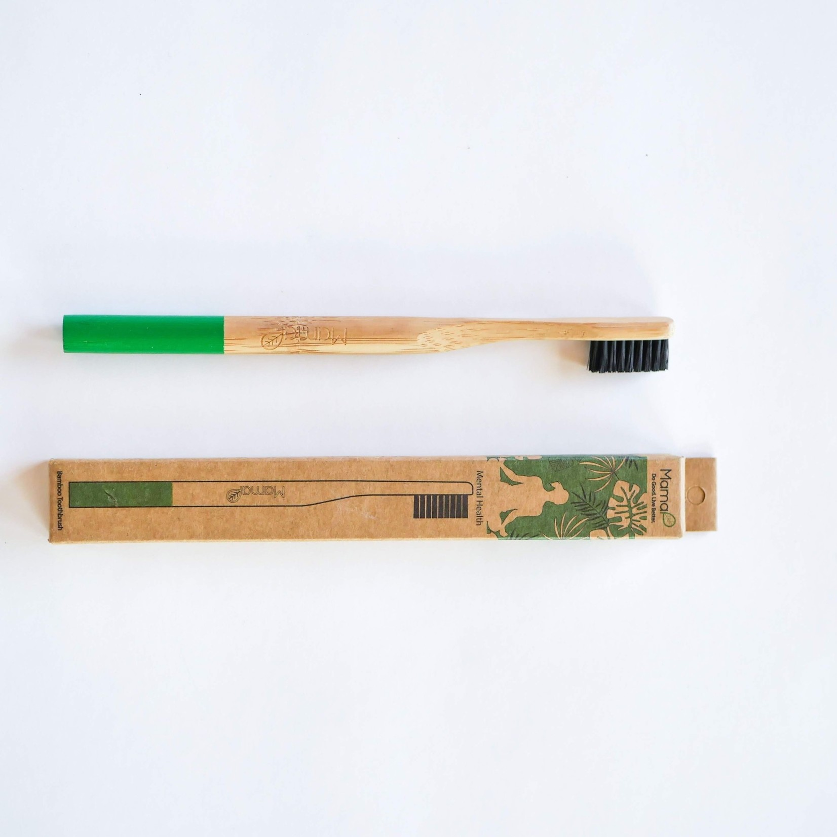 Mama P MamaP Bamboo Green Mental Health Toothbrush