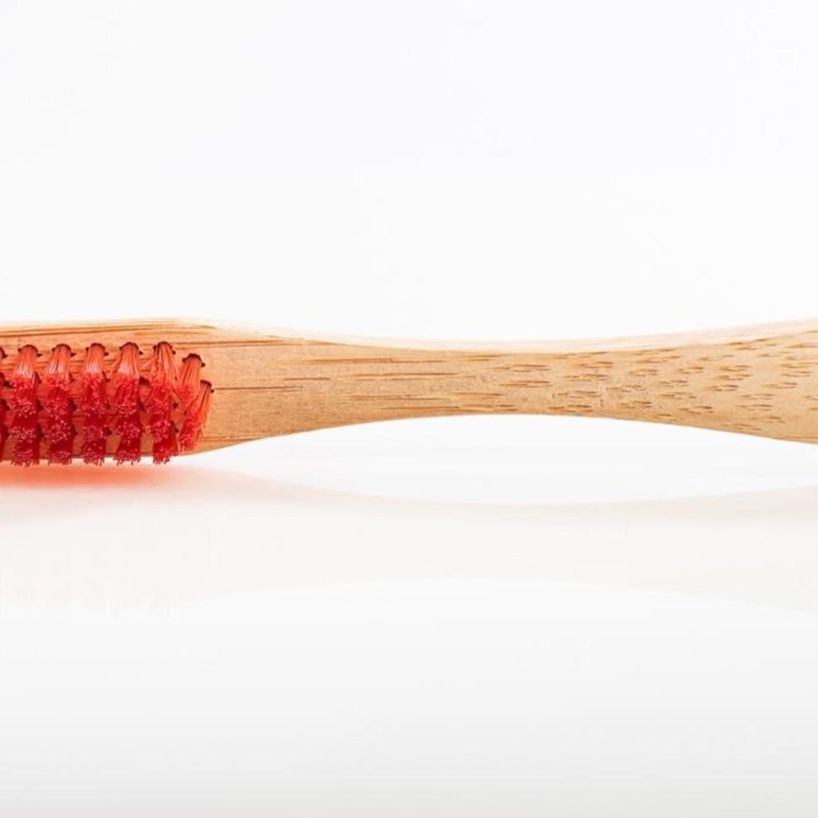 Mama P MamaP Bamboo Red Women's Rights Toothbrush