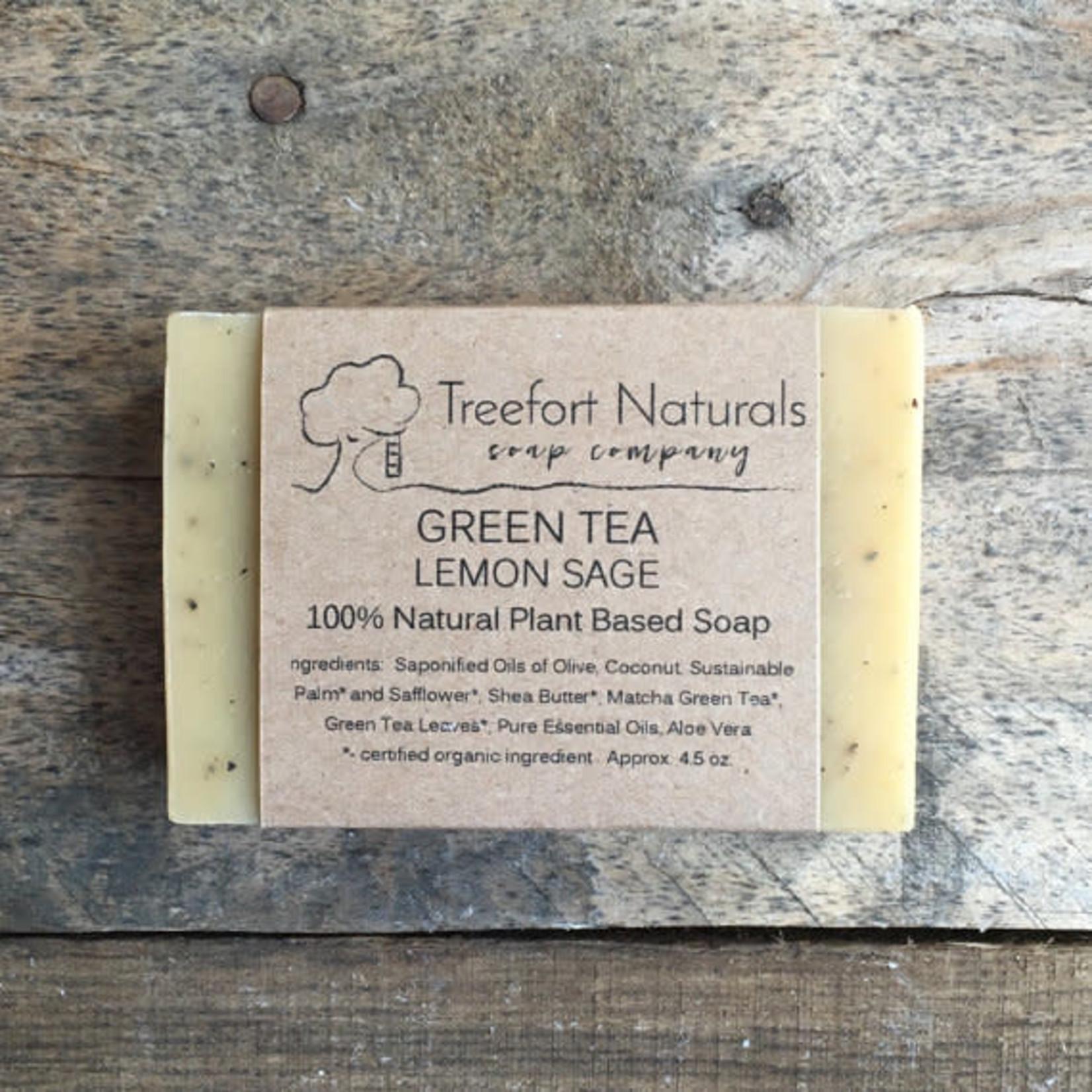 Treefort Naturals Treefort Naturals Green Tea Lemon Sage Soap