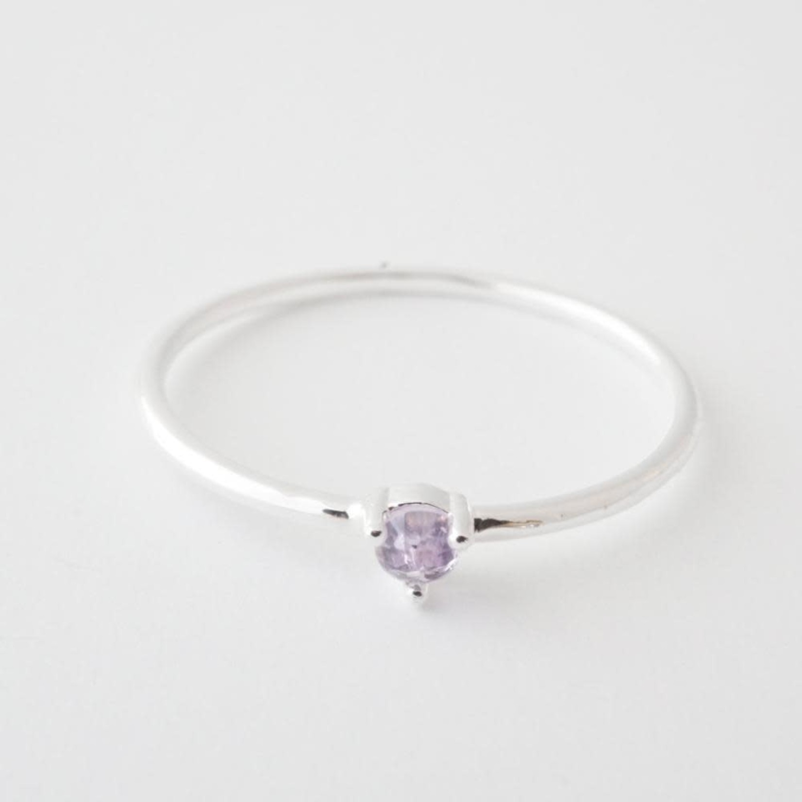 Honeycat Jewelry Honeycat Solitaire Ring AMETHYST Silver