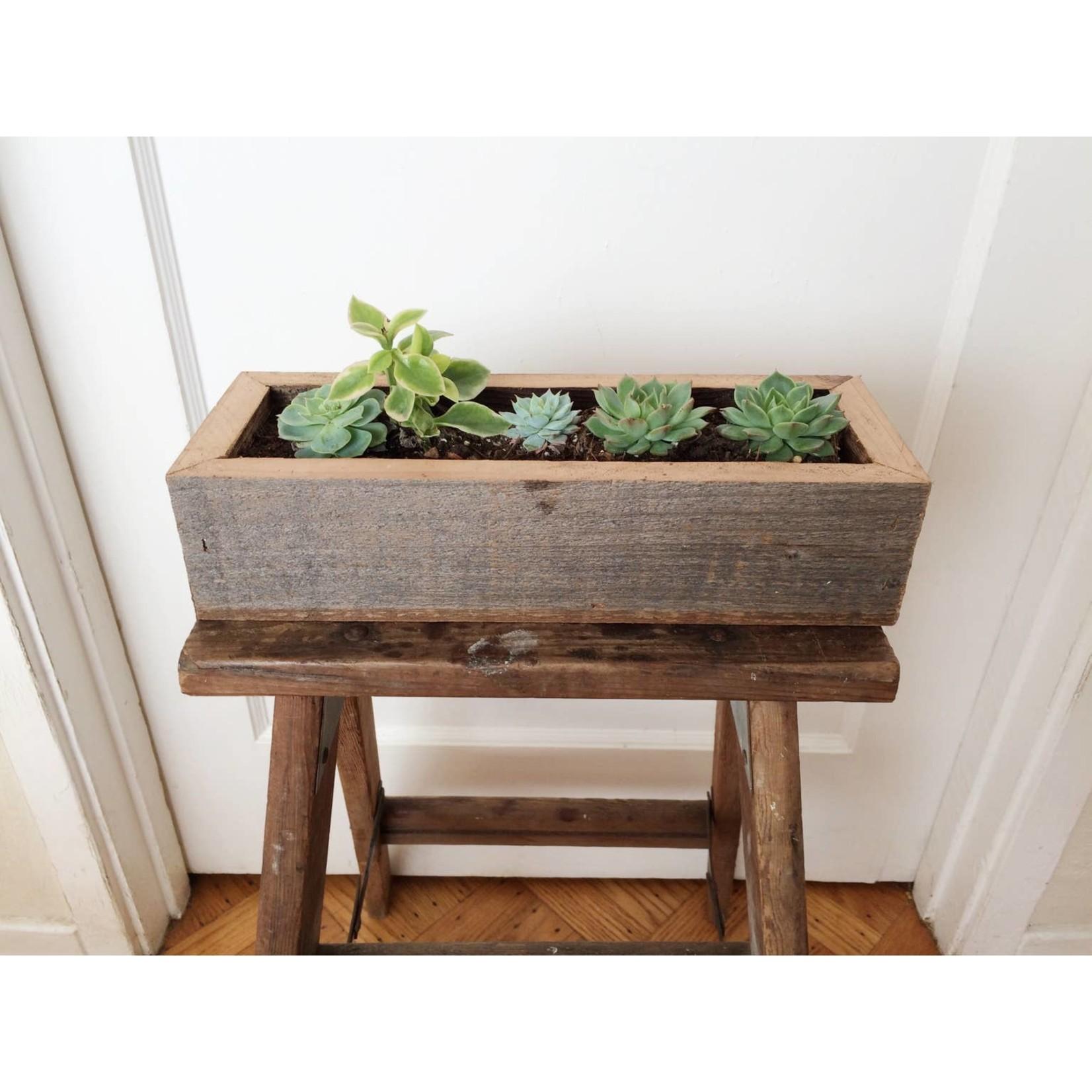 """Alibi Interiors Alibi Interiors 2"""" x 10"""" Reclaimed Wood Fivesie Planter Box"""