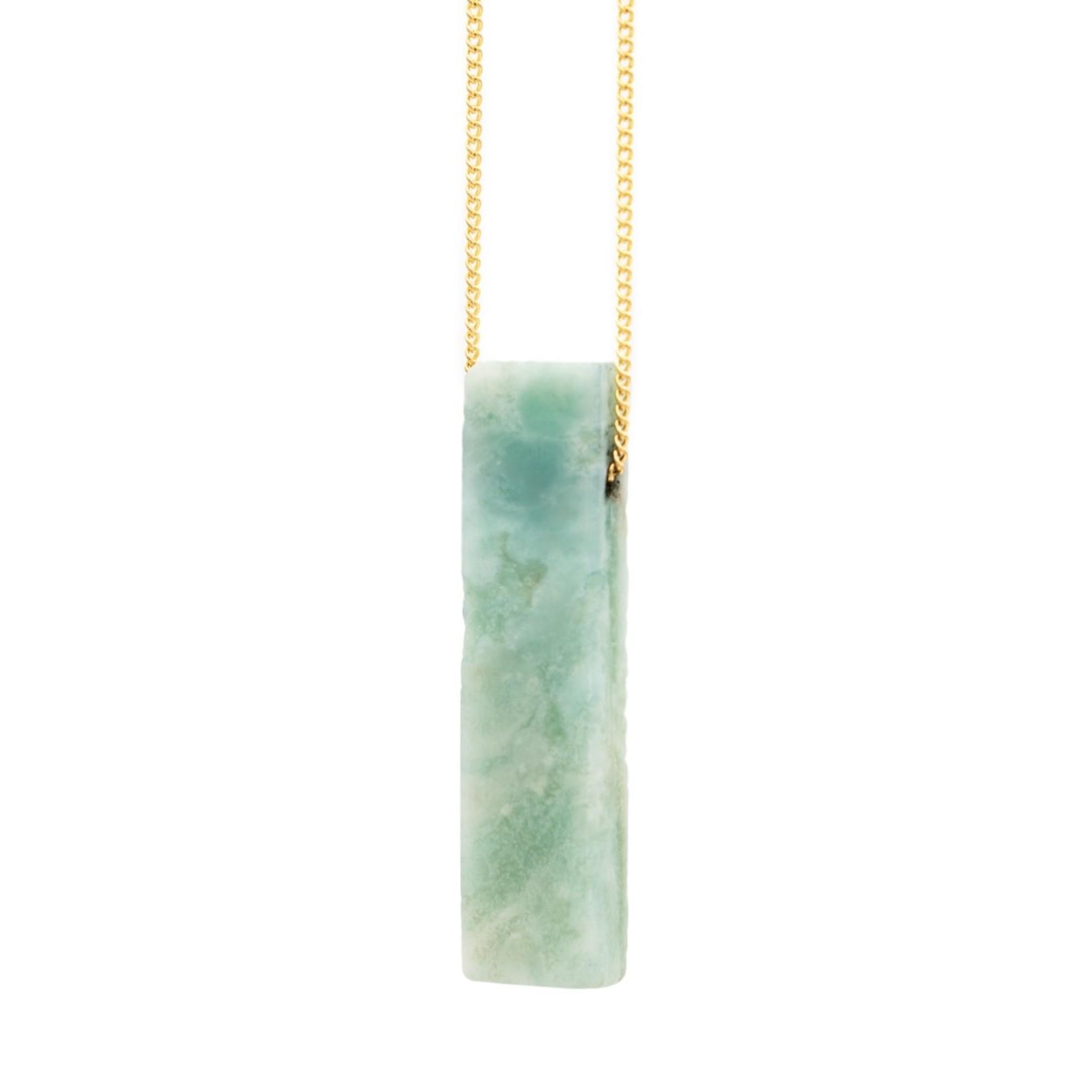"Mana Made Jewelry Mana 28"" Stone Necklace Amazonite"