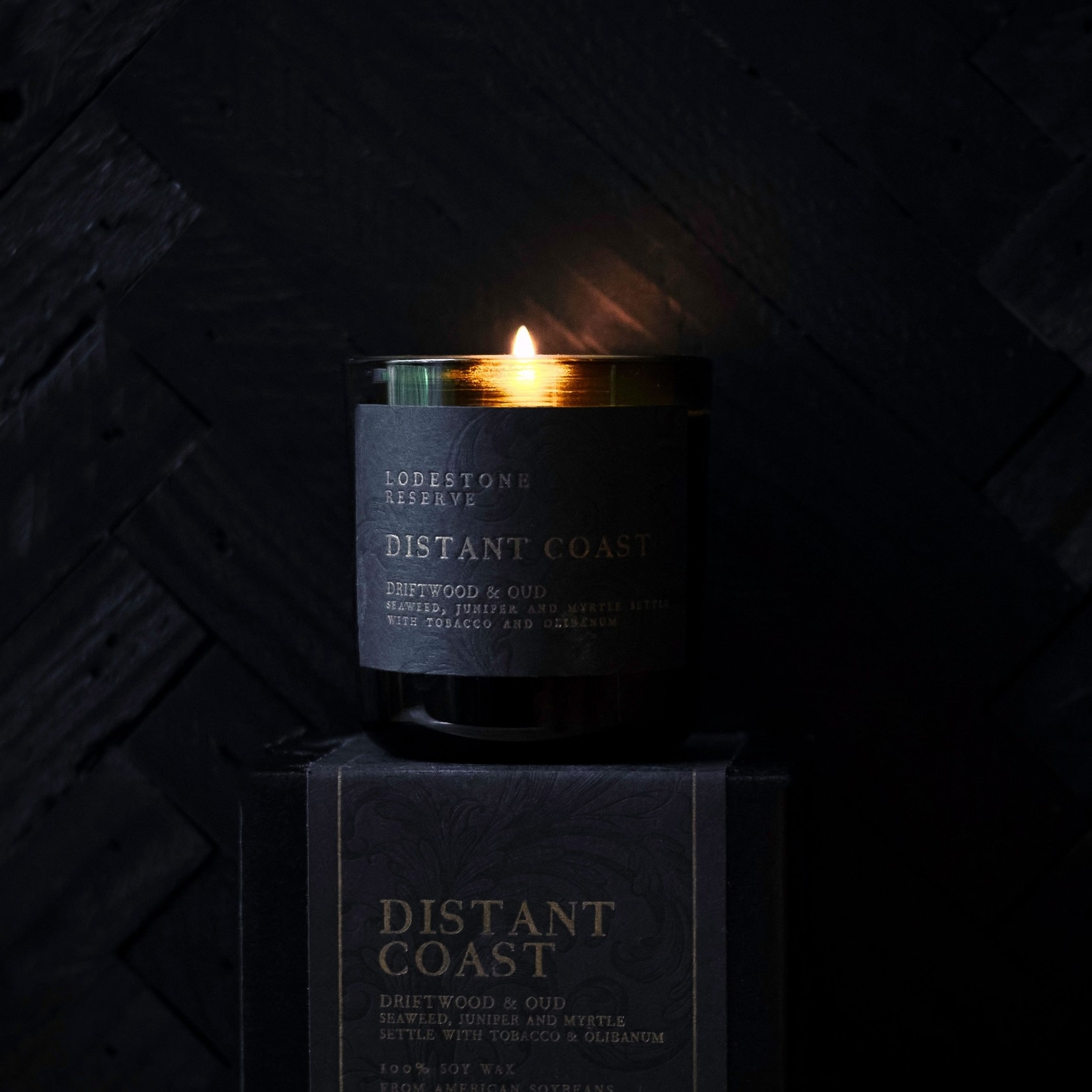Lodestone Vintage Green Candle Distant Coast