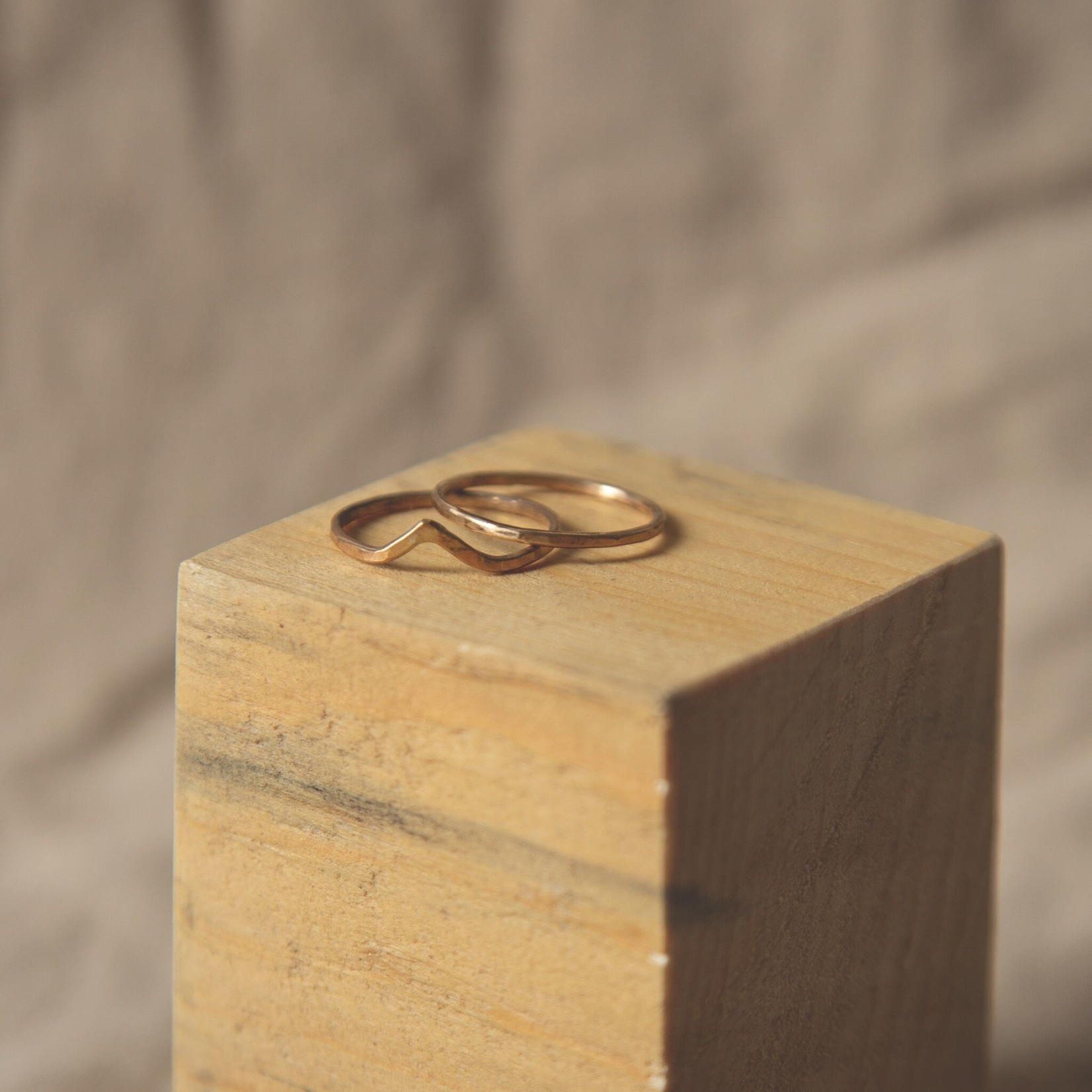 Lonewolf Collective Lonewolf Collective Thin Flat Stacker Ring 14K Gold Fill