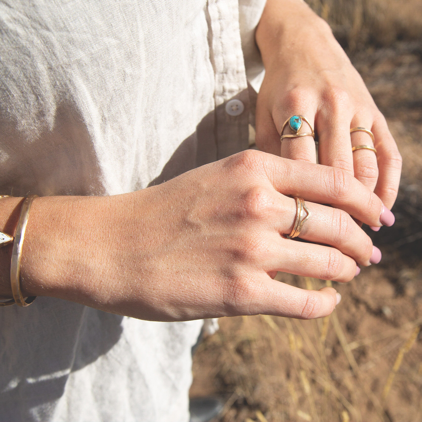 Lonewolf Collective Lonewolf Collective Mountain Stacker Ring (14K Gold Fill)