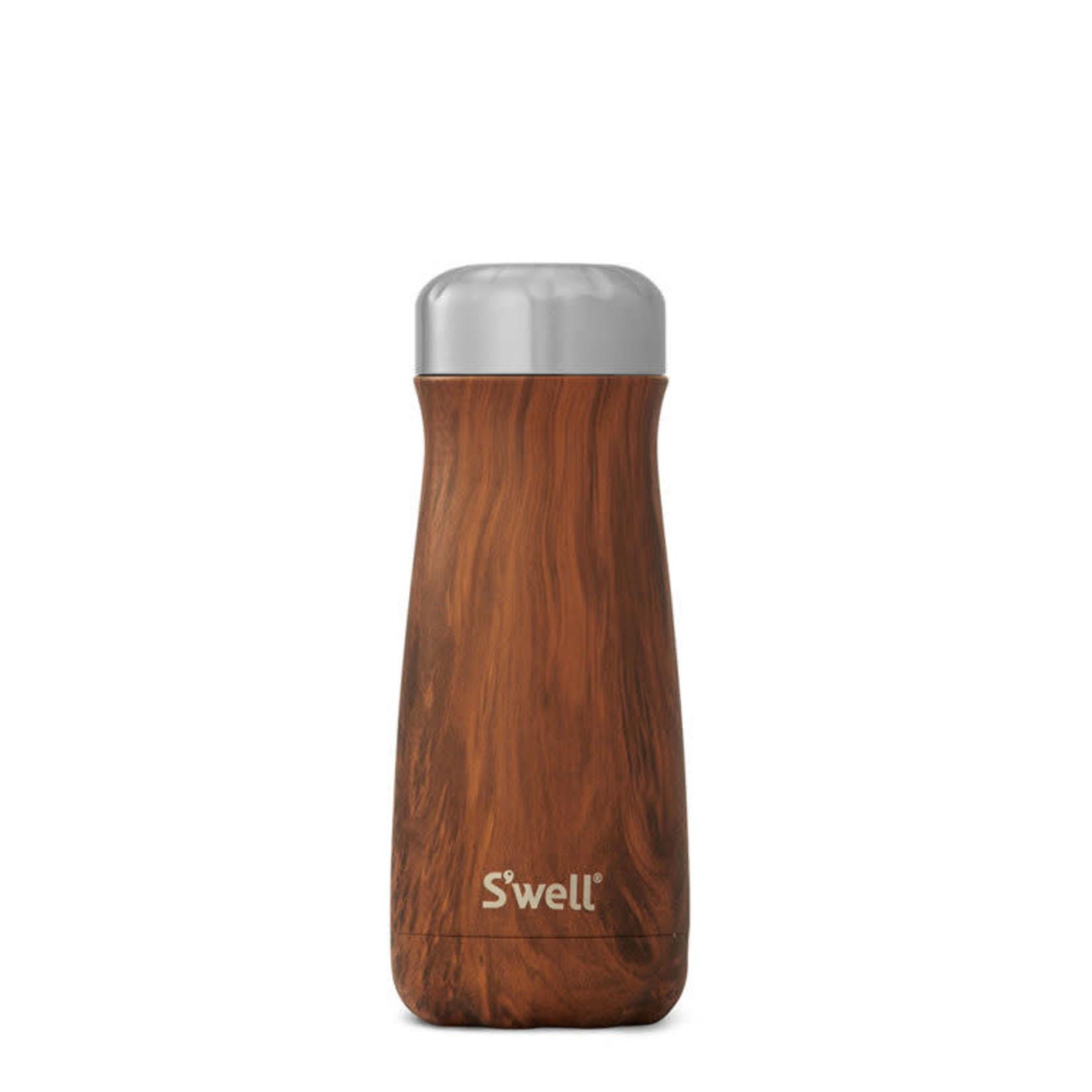 S'well S'well Bottle Traveler 16oz Wood Teakwood