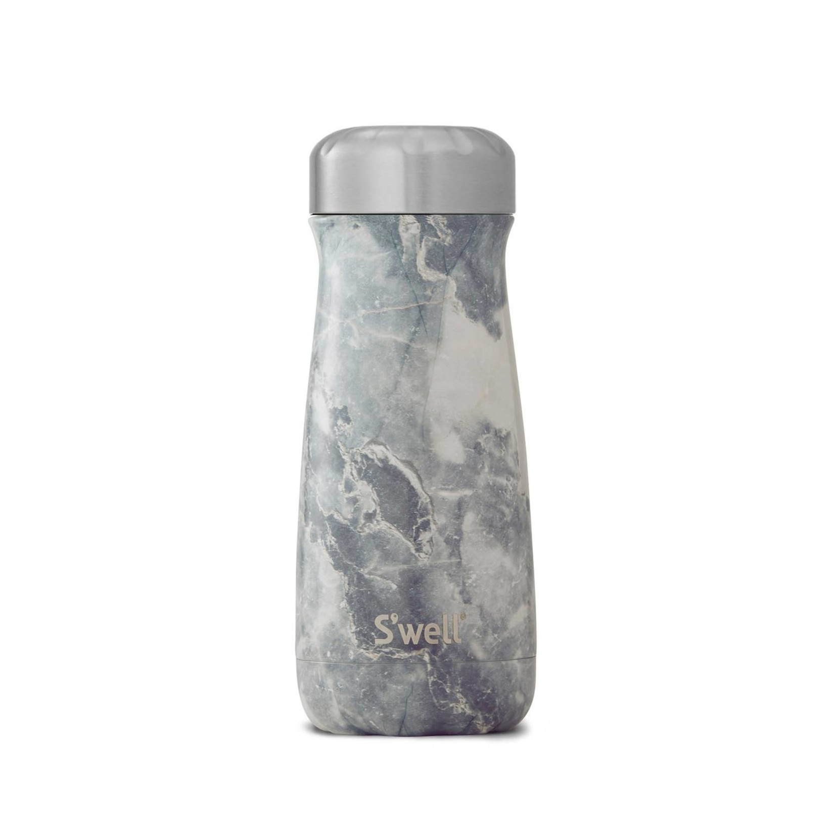 S'well S'well Bottle Traveler 16oz Marble Blue Granite
