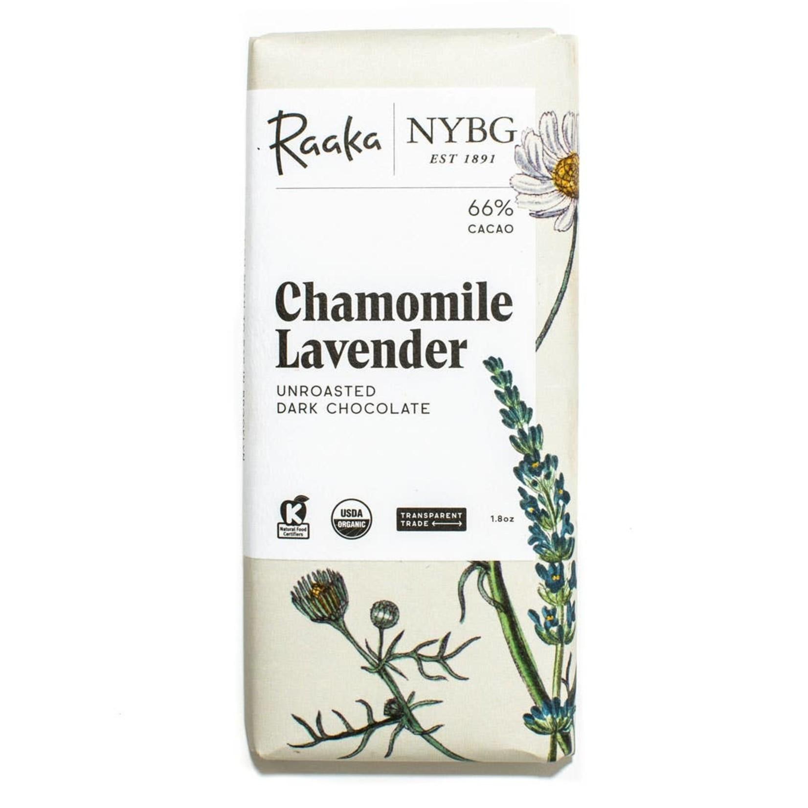 Raaka Raaka Chocolate Bar 66% Chamomile Lavender Bar - Limited Batch