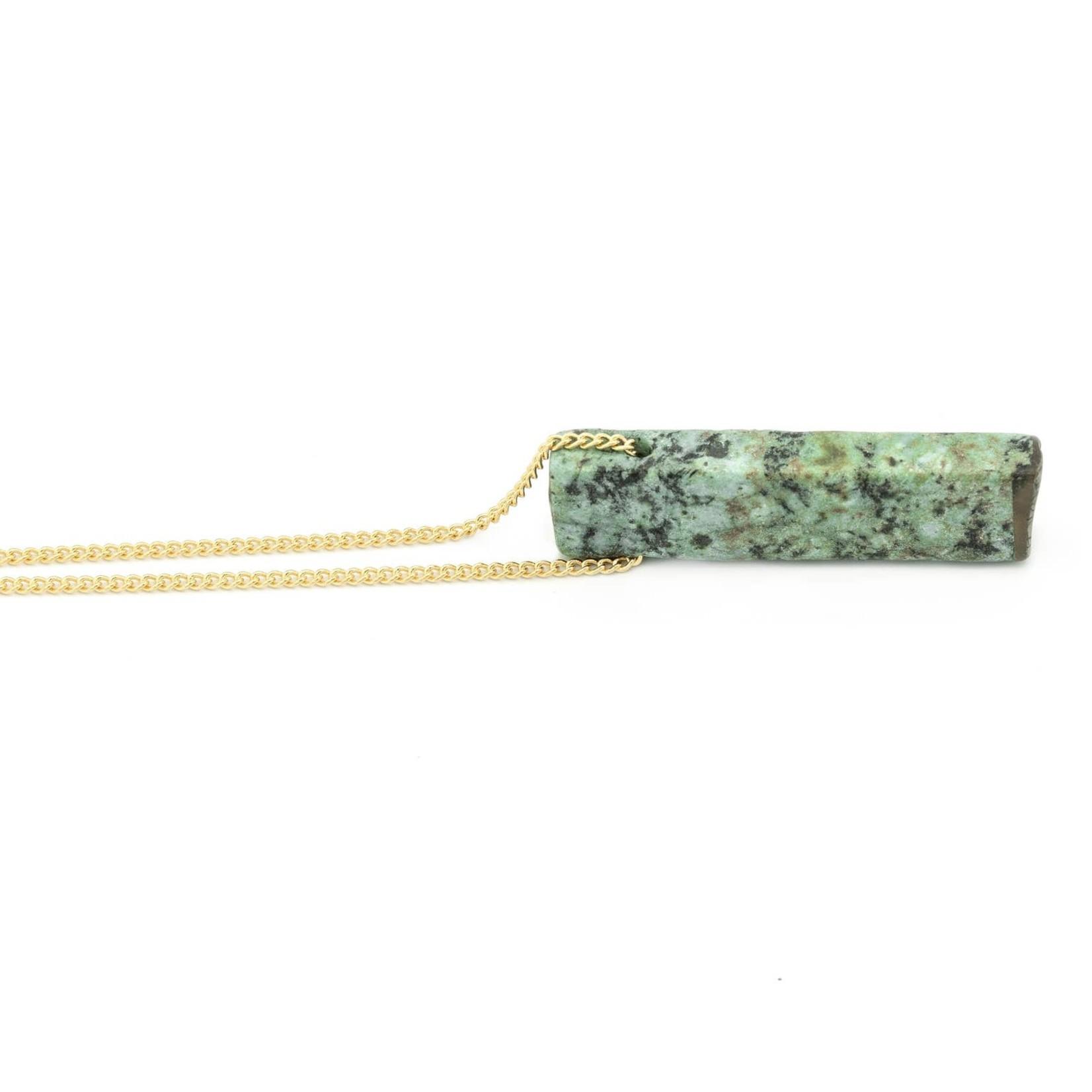 "Mana Made Jewelry Mana 28"" Stone Necklace Turquoise"