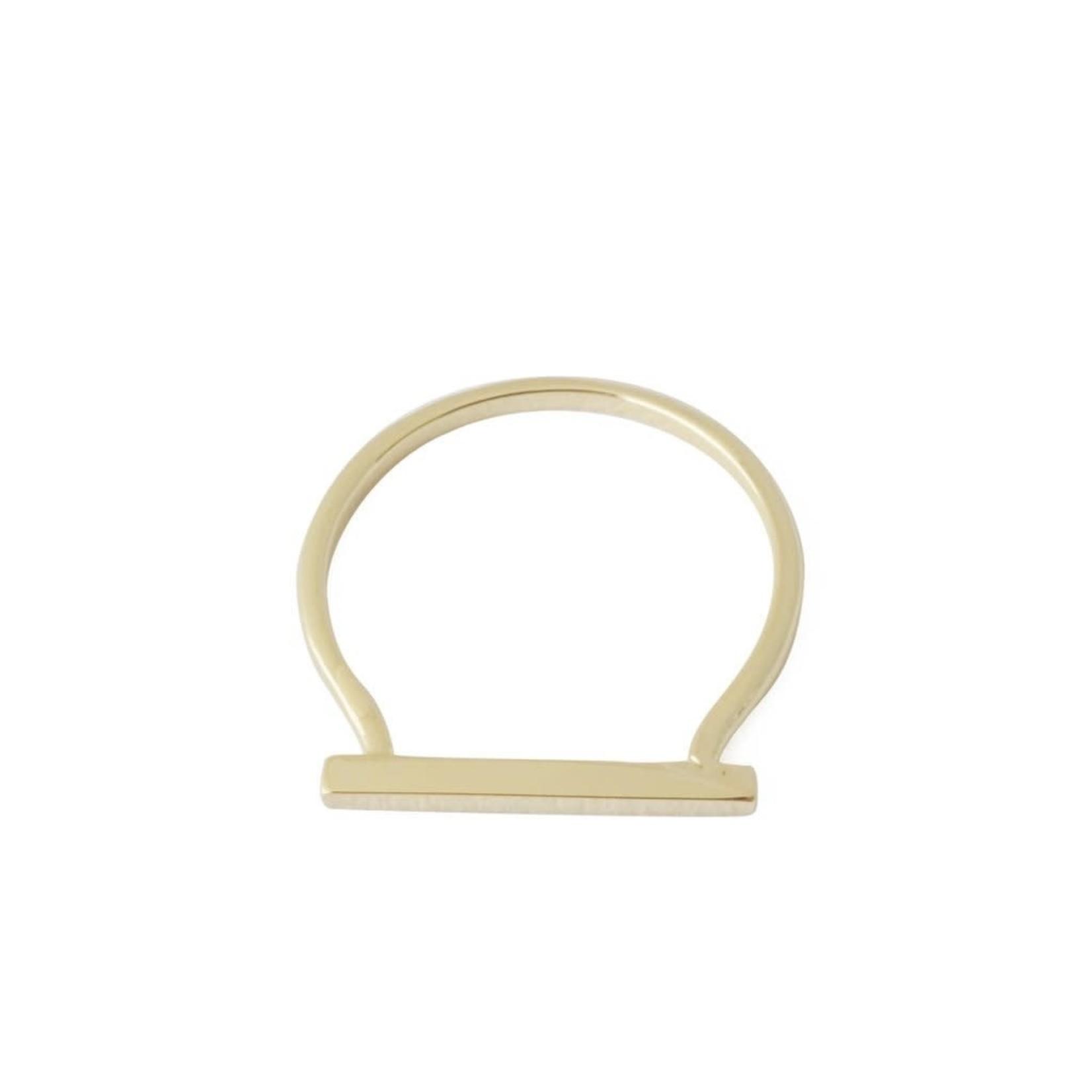 Honeycat Jewelry Honeycat Long Bar Ring Gold