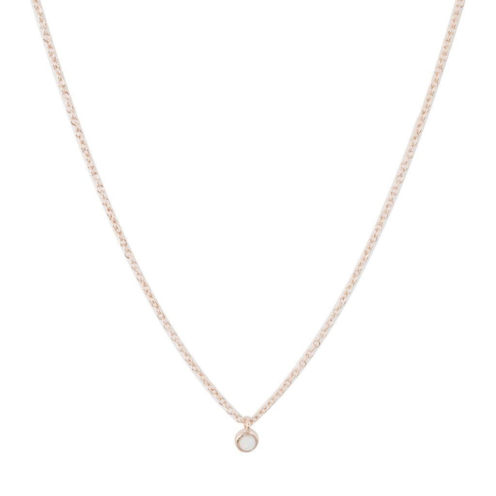 Honeycat Jewelry Honeycat Opal Bezel Set Necklace