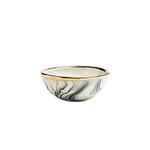 Eliana Bernard Ceramics Eliana Bernard Jewelry Bowl in Black Marbling + Gold Rim