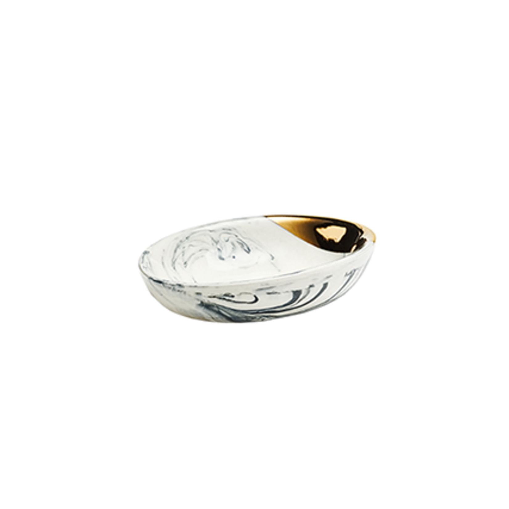 Eliana Bernard Ceramics Eliana Bernard Small Oval Dish in Black Marbling