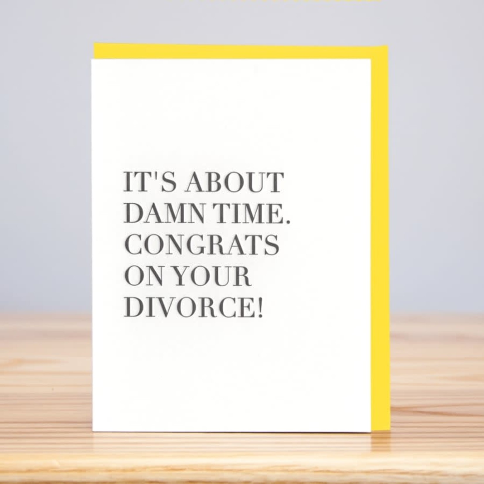 Huckleberry Huckleberry Letterpress Love Divorce Congrats