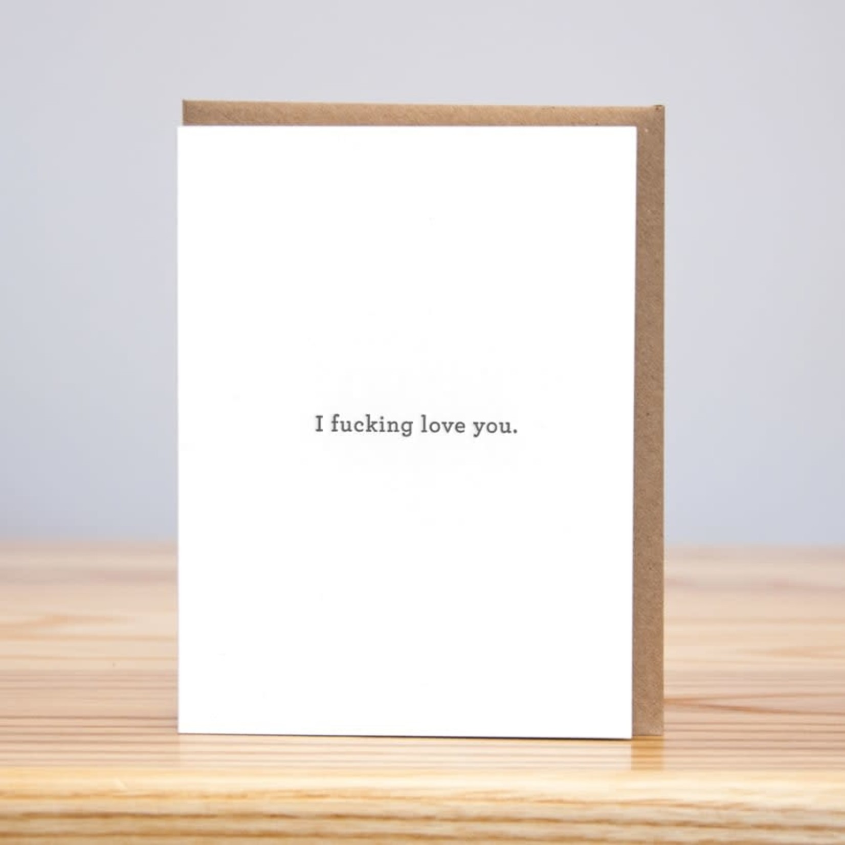 Huckleberry Huckleberry Letterpress I Fucking Love You