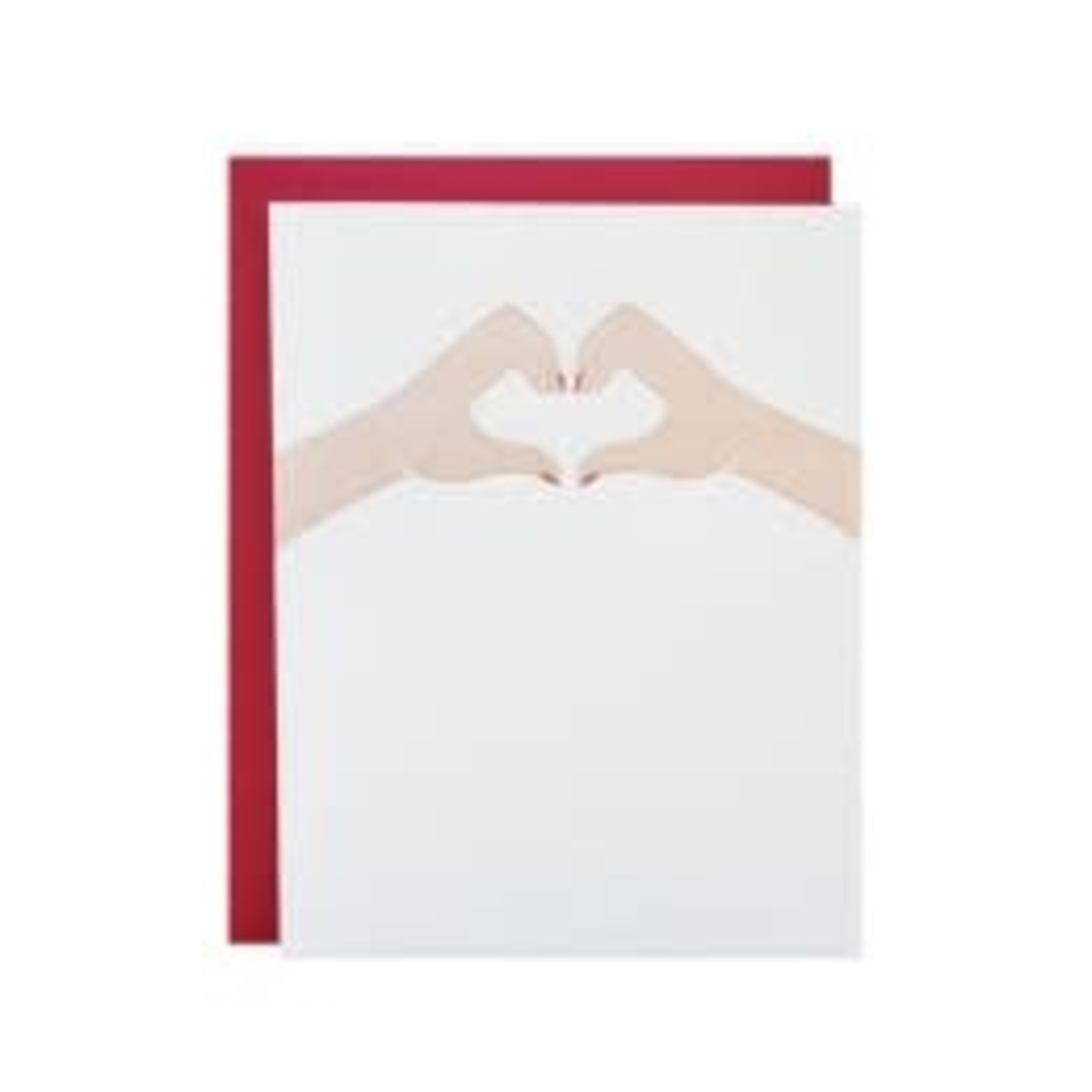 Riva Letterpress Heart Hands