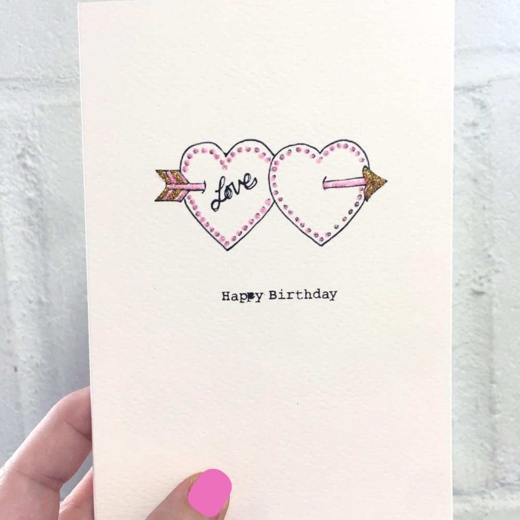 Rosie Wonders Birthday Double Heart