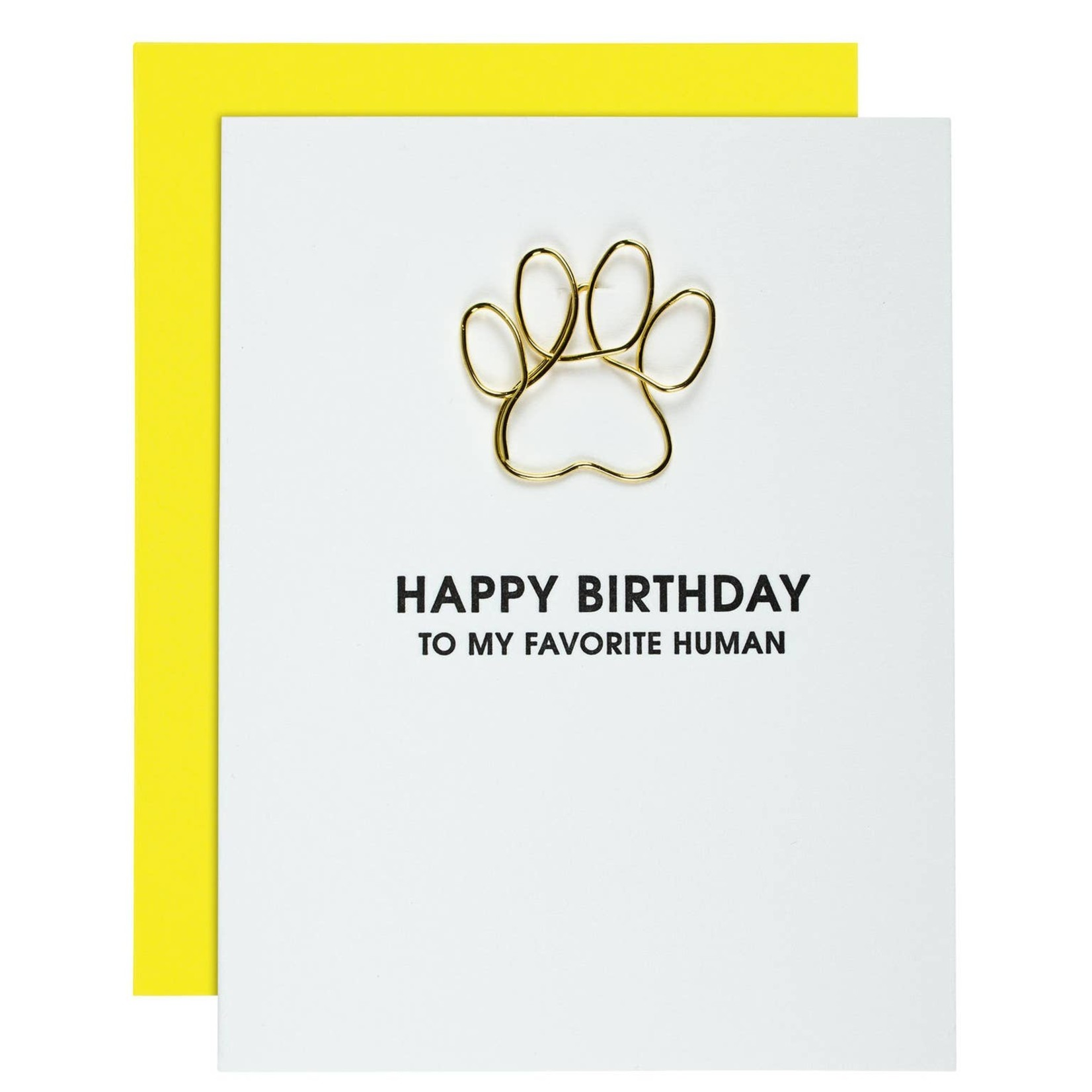 Chez Gagne Chez Gagne Birthday Favorite Human - Paw Print Paper Clip