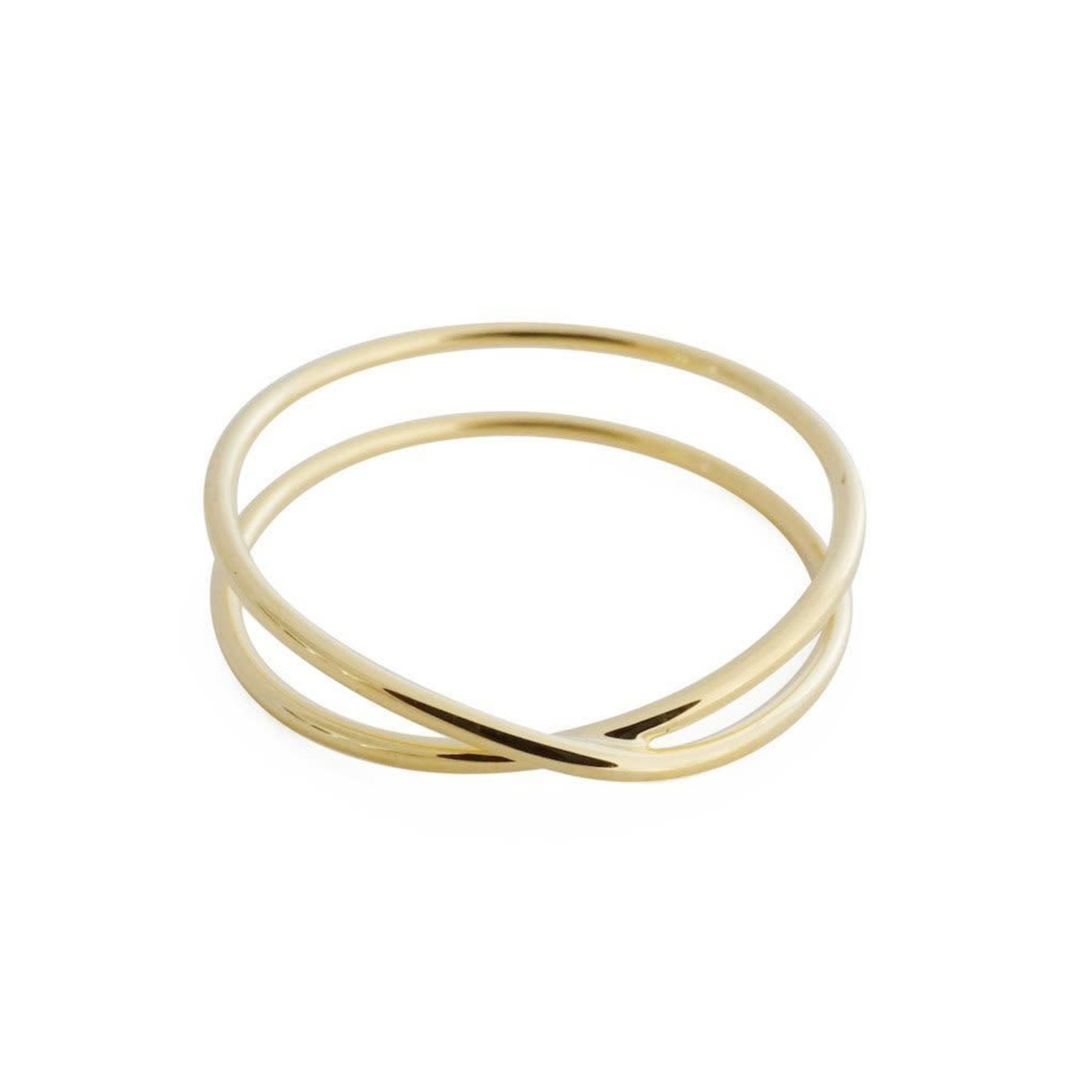 Honeycat Jewelry Honeycat Crossover X Ring Gold