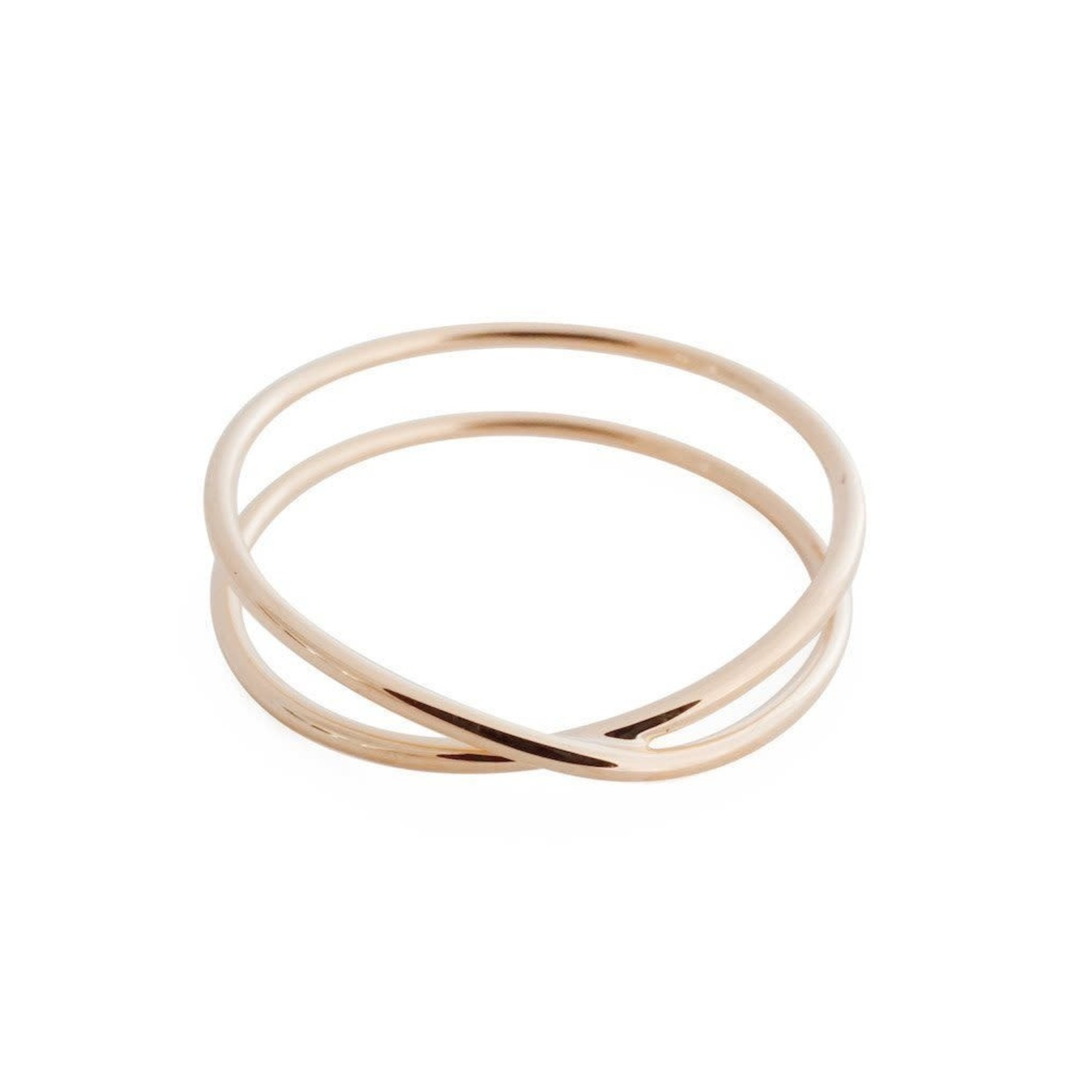 Honeycat Jewelry Honeycat Crossover X Ring Rose Gold