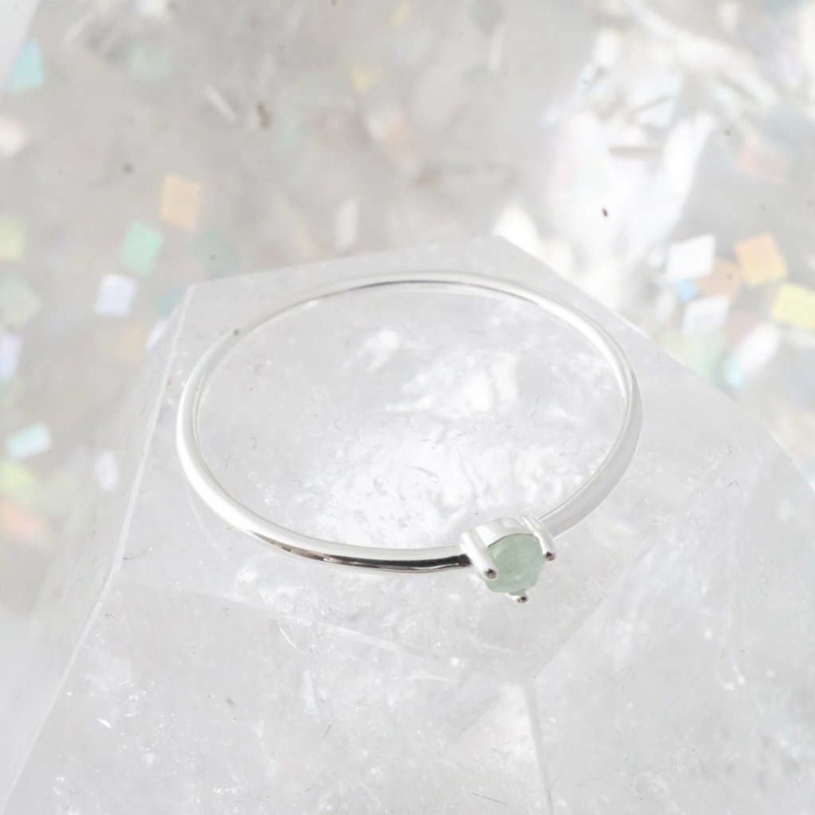 Honeycat Jewelry Honeycat Point Solitaire Ring JADE Silver