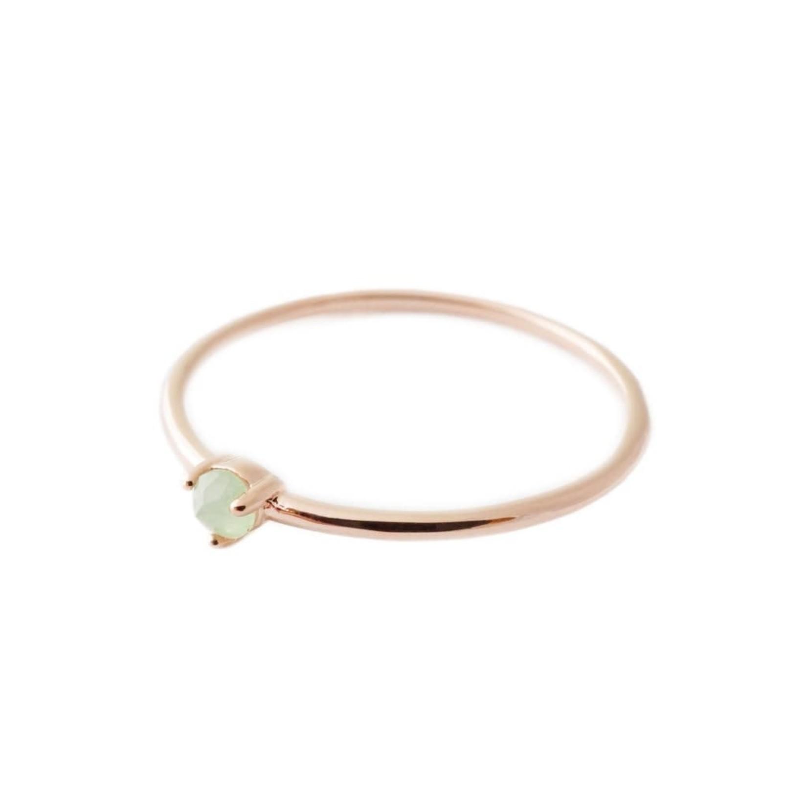 Honeycat Jewelry Honeycat Point Solitaire Ring JADE Rose Gold