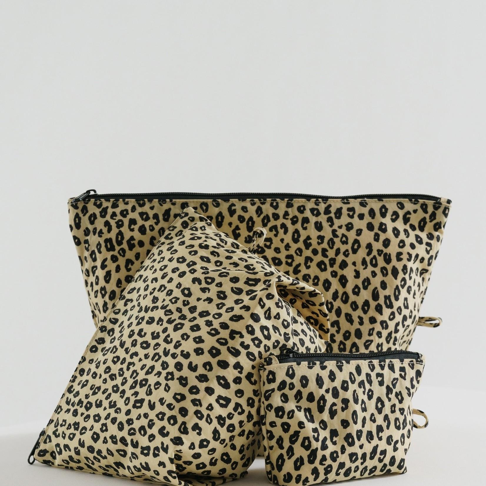 Baggu Baggu Go Pouch Set Honey Leopard