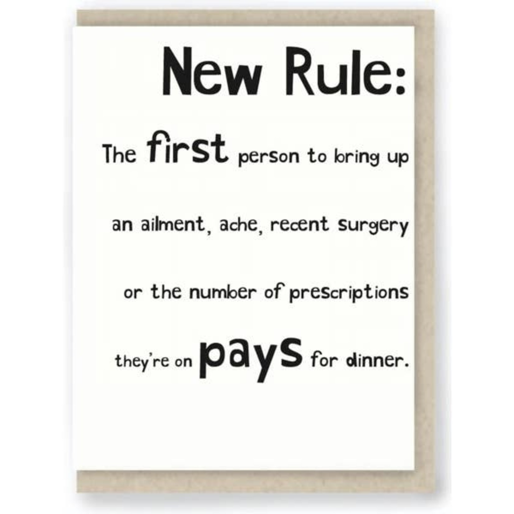 Hit & Run Greetings Hit & Run New Rule: the First Person to Bring Up an Ailment, Ache