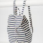 Baggu Baggu Canvas Drawstring Backpack Sailor Stripe