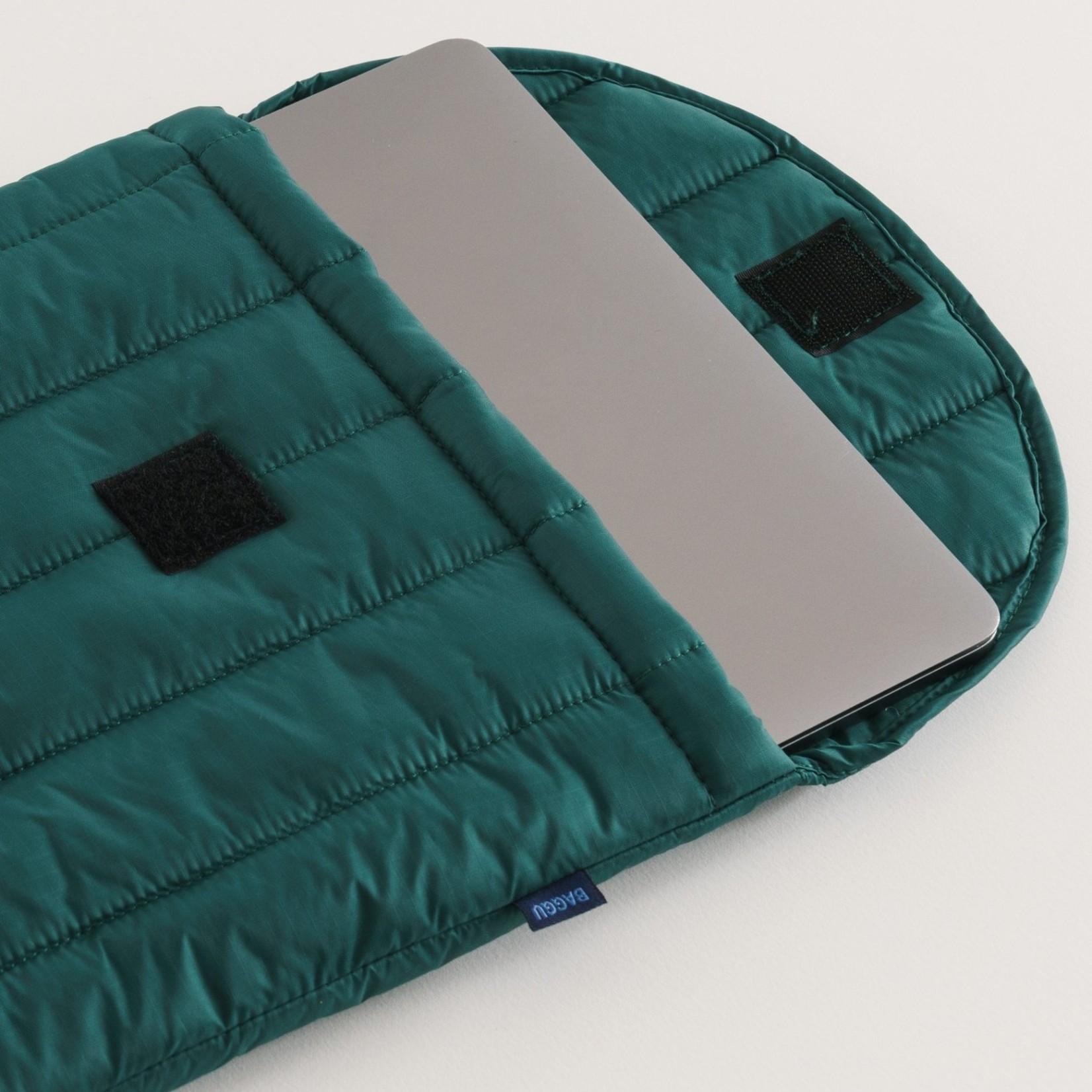 "Baggu Baggu Puffy Laptop Sleeve  Malachite 16"""