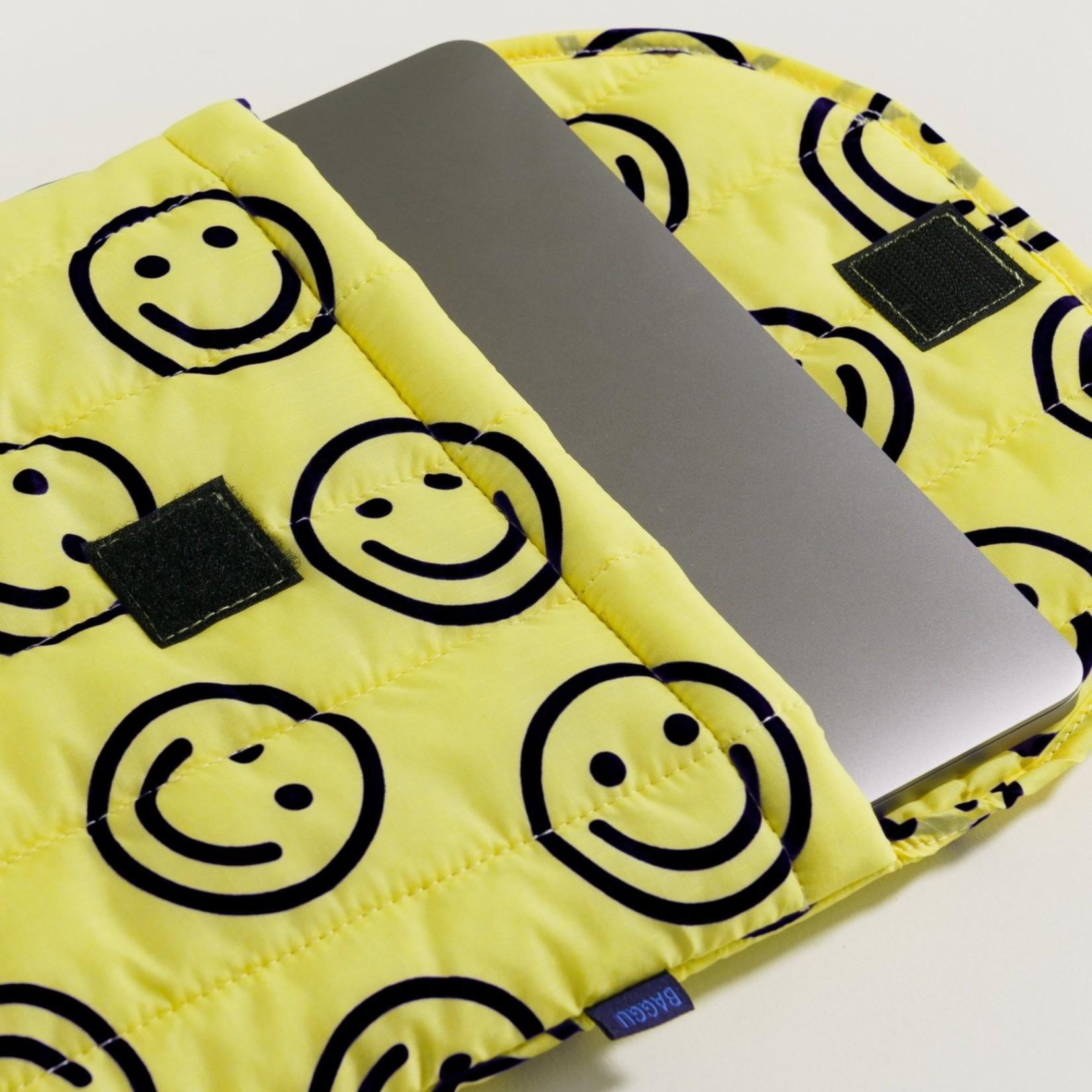 "Baggu Baggu Puffy Laptop Sleeve  Happy Yellow 16"""