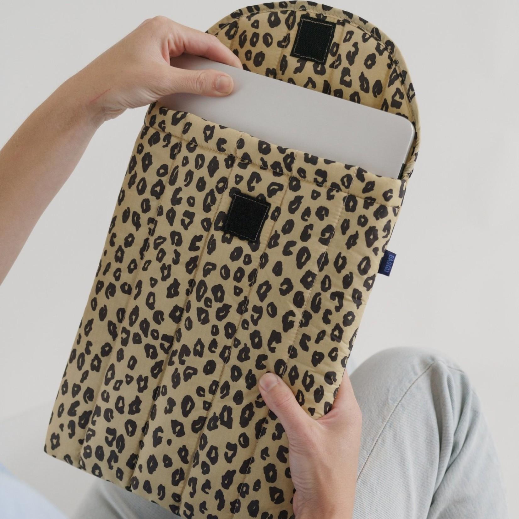 """Baggu Baggu Puffy Laptop Sleeve  Leopard Honey 13"""""""