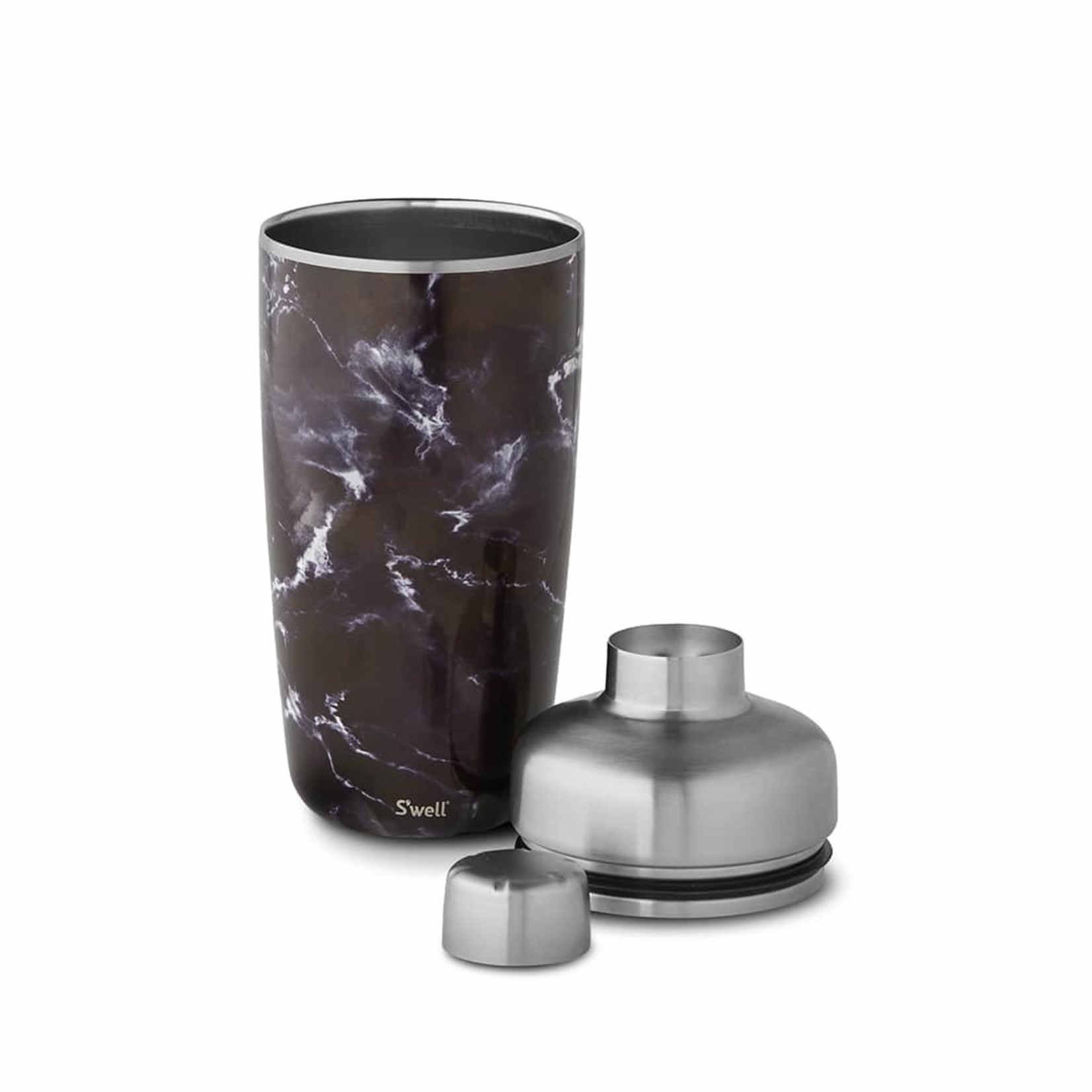 S'well S'well 18oz Shaker Set with Jigger Black Marble