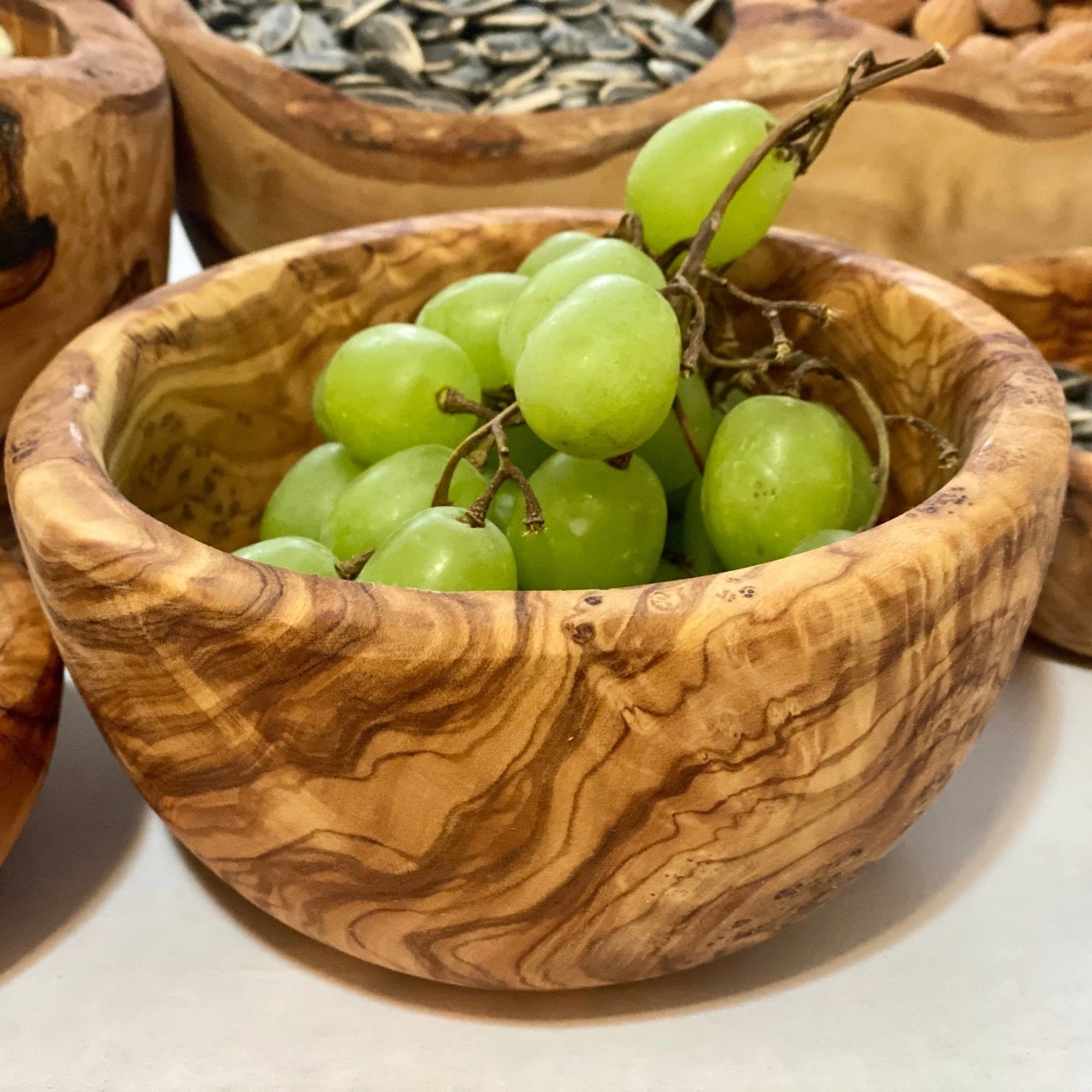 "Natural OliveWood Natural OliveWood Small Snack Bowl 4.75"""