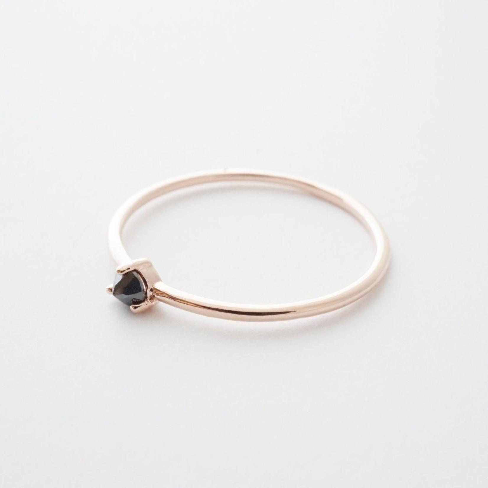 Honeycat Jewelry Honeycat Point Solitaire Ring IRON ORE