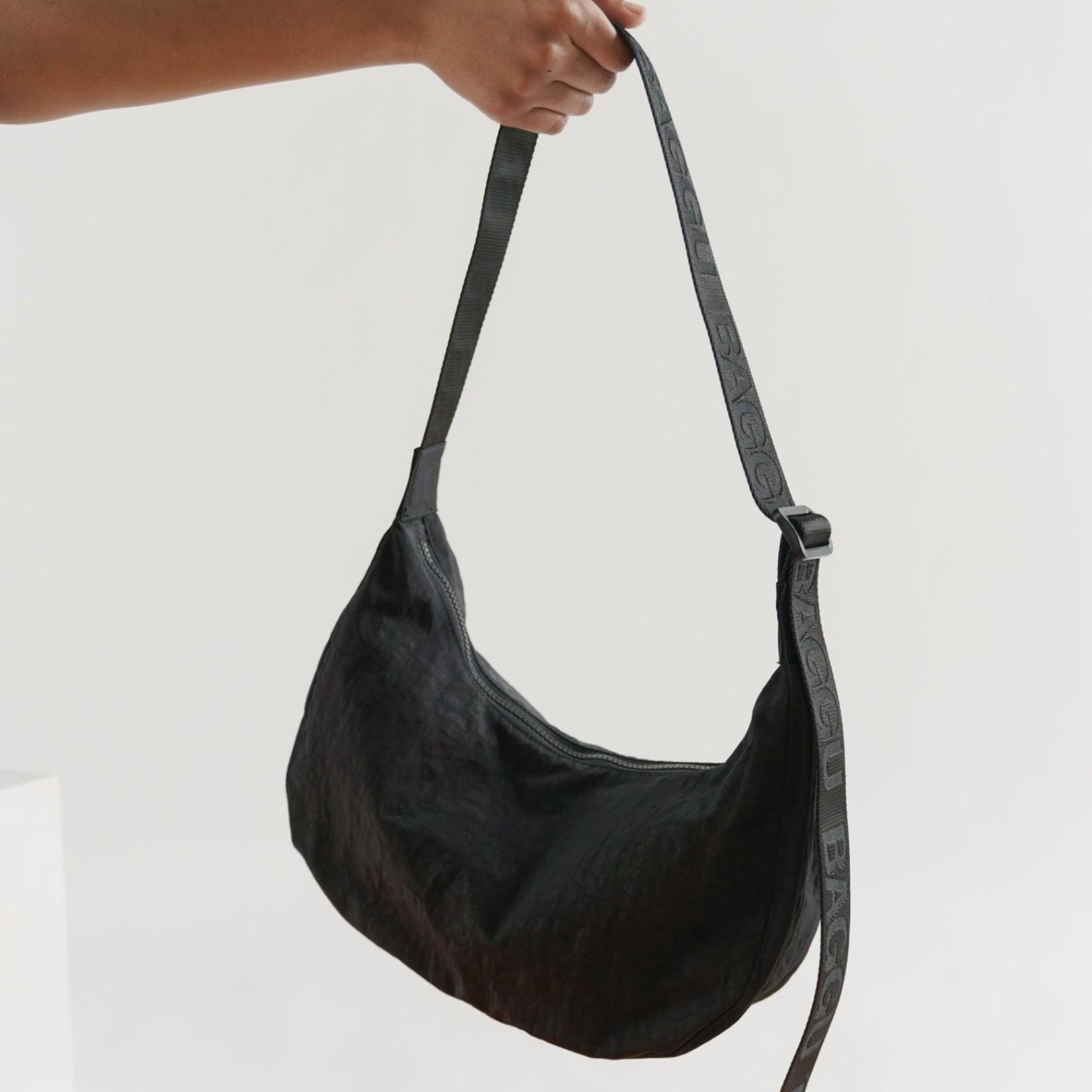 Baggu Baggu Medium Nylon Crescent Bag Black