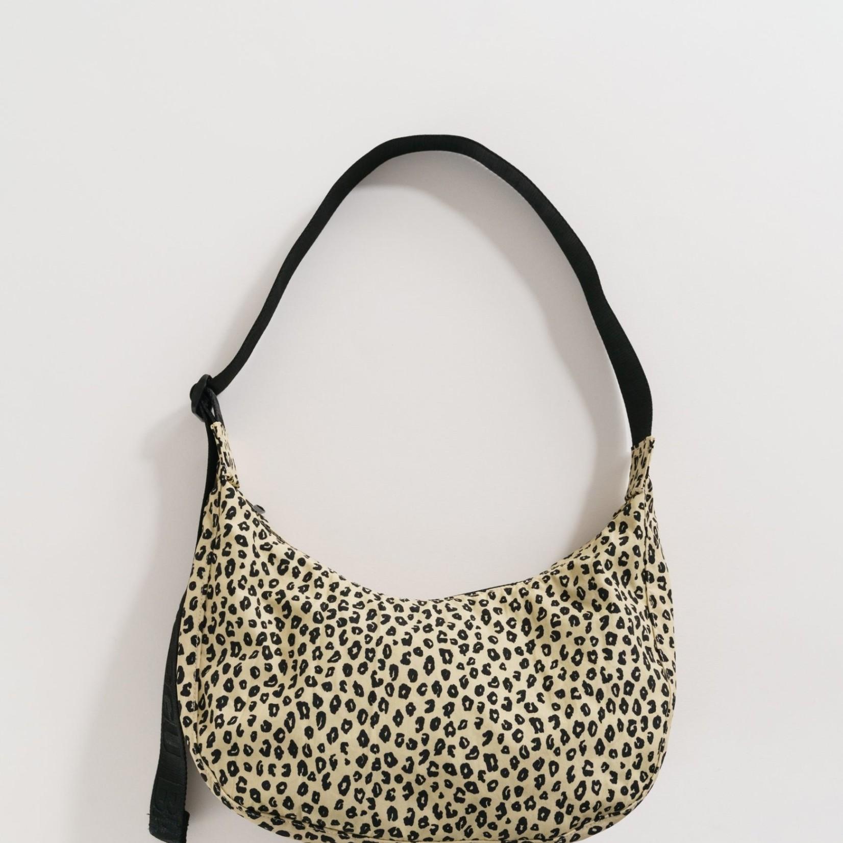 Baggu Baggu Medium Nylon Crescent Bag Honey Leopard
