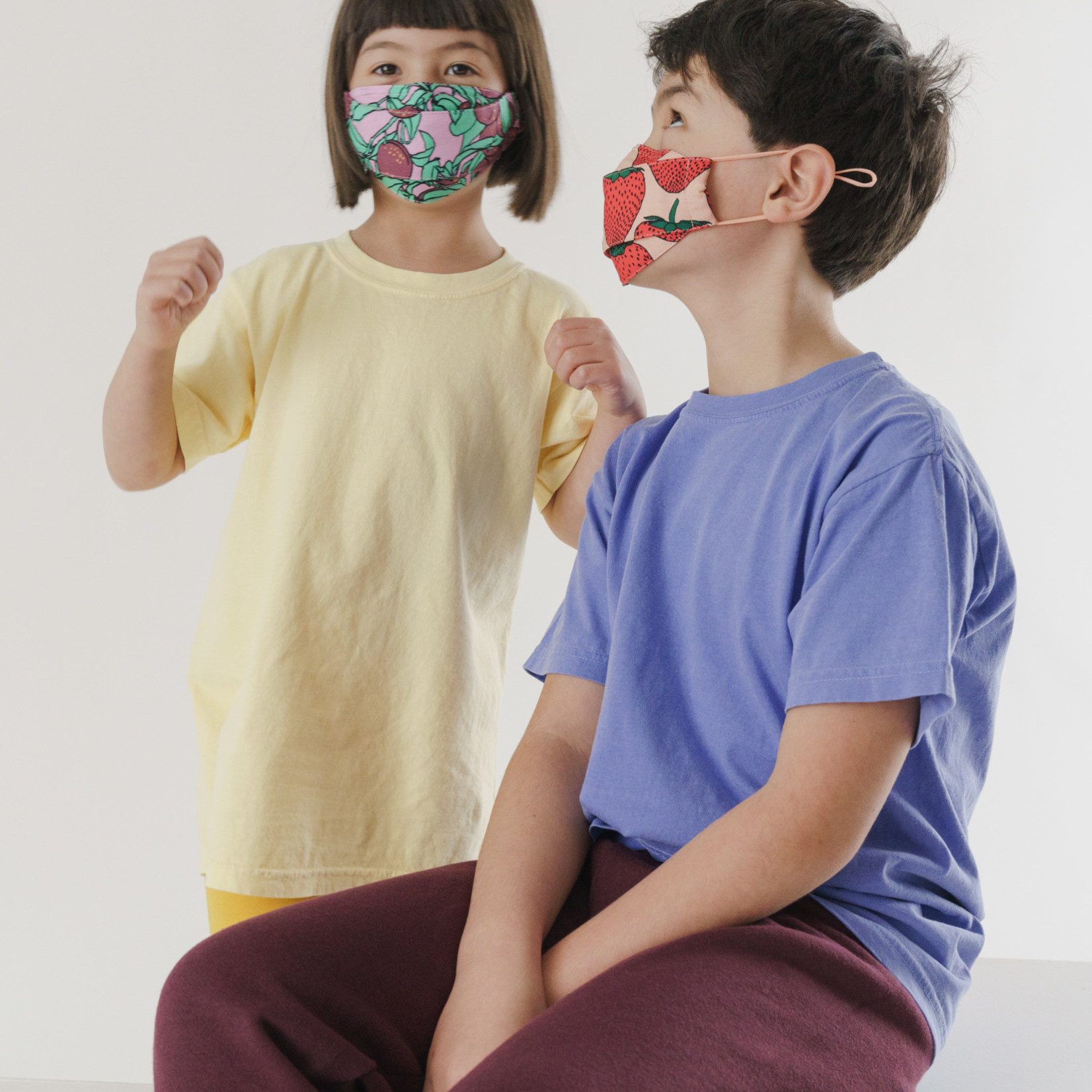 Baggu Baggu Kids' Fabric Mask Set of 3 - Loop Backyard Fruit