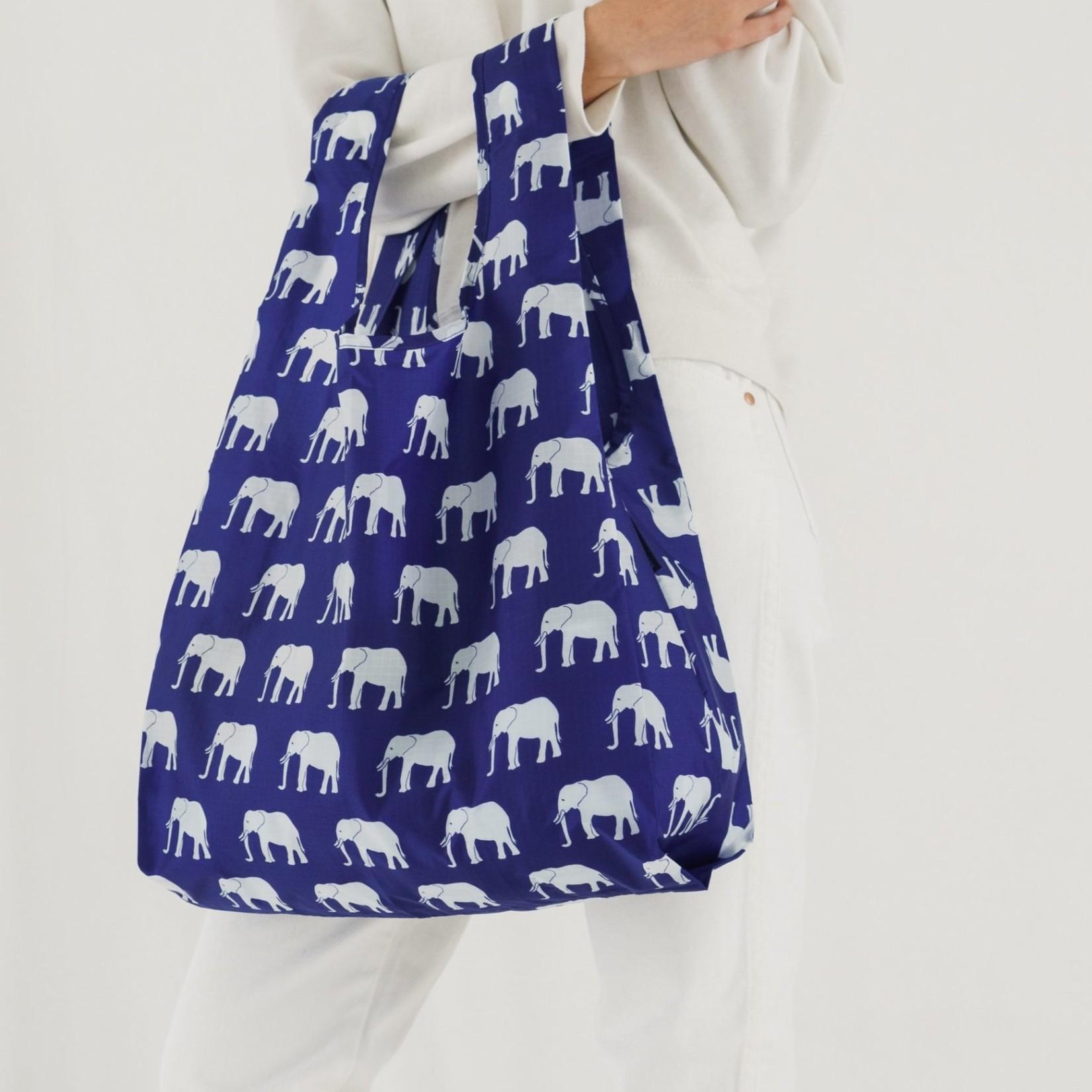 Baggu Baggu Reusable Bag Standard Blue Elephant